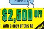 $2,500 de DESCUENTO en la compra de tu camión
