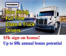 PENSKE IS HIRING TRUCK DRIVERS